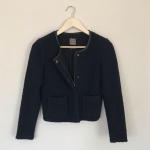 {GAP} Cropped Wool Blazer